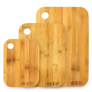 Bamboo Chopping Board - Set of 3 £6.99 + £2.95 del at Roov
