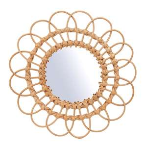 Sass & Belle Rattan Mirror Large - £14.94 (+£11.99 + £2.95 Delivery) @ Roov