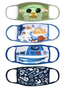Disney Store - Variety of different face mask covers (Star Wars, Mickey and Minnie and more) Pack of 4 - £6 (+£3.95 Delivery) @ ShopDisney