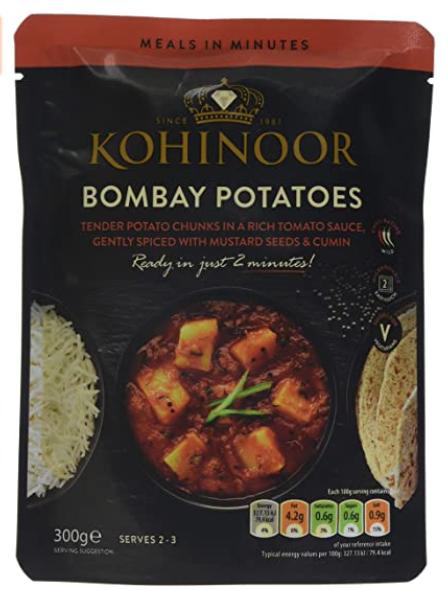 Kohinoor Bombay Potato, 300 g, (Pack of 6) £4.03 prime / £8.52 non prime / £3.43 S&S @ Amazon