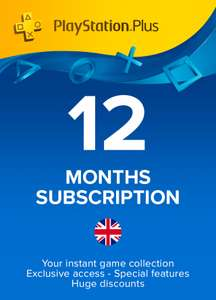 PlayStation Plus - 12 month (365 days) subscription (United Kingdom) £40.89 @ Instant gaming