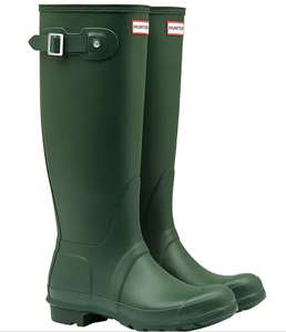 Hunter green tall original genuine women's wellies £58.99 + £1 delivery @ Naylors