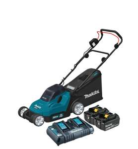Makita MAKGDLM382CT2 Twin 18V 38cm LawnMower 2x 5.0Ah Batteries and dual charger £330.13 @ Toolden
