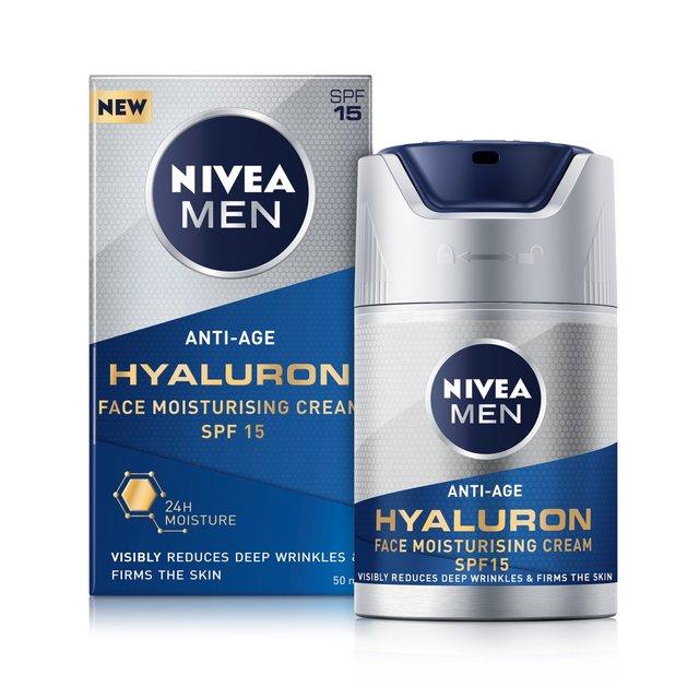 Nivea Anti-Age Face Moisturiser Hyaluronic Acid Spf 15 50ml - £5.62 @ Superdrug (Free C&C)