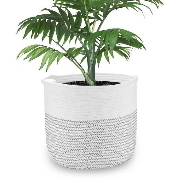 Cotton Rope Storage Basket 28cm x 28cm - £6.49 + £2.95 postage @ Roov
