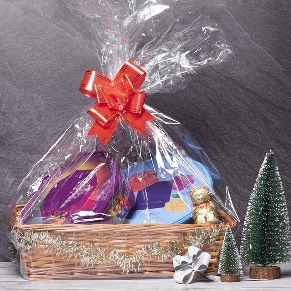 DIY Gift Hamper £9.99 Wicker Basket, Ribbon, Shredded Paper, Cellophane paper & Gift Tag £9.99 + £2.95 p+p at Roov