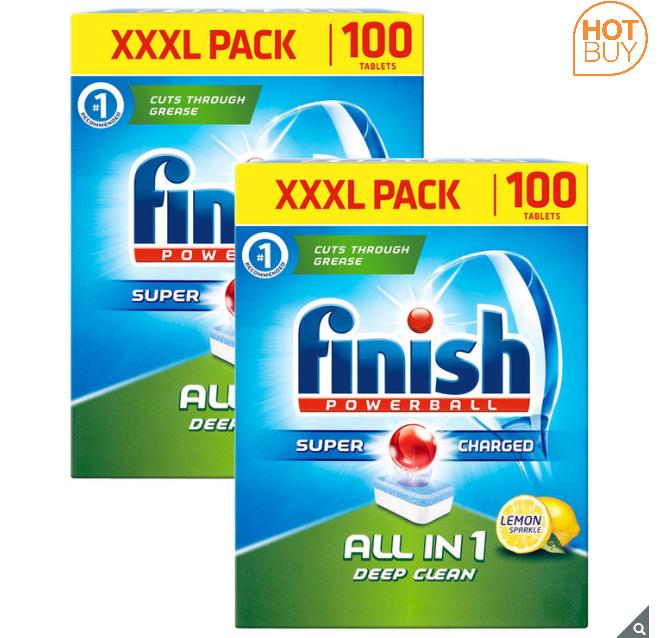 Finish Dishwasher Tablets All In 1 Powerball XXXL Lemon, 2x100 Tablets (8p per tab) - £15.49 at Costco