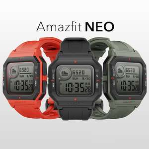 Amazfit Neo Smart Watch with Heart Rate, Sleep Monitoring, Fitness/Activity Tracker - £29 (Free click & collect / £3.95 Delivery) @ Argos