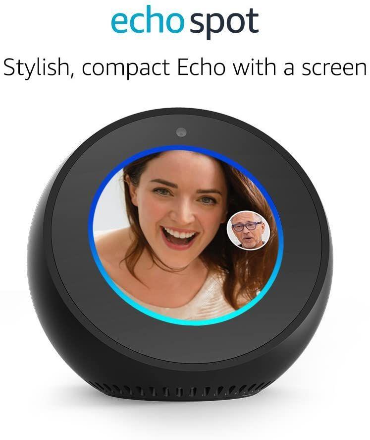 Certified Refurbished Amazon Echo Spot - Black £44.99 (UK Mainland) sold by Amazon EU Sarl. at Amazon