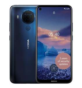 Nokia 5.4 6.39 Inch Android UK SIM Free Smartphone with 4 GB RAM and 64 GB Storage (Dual SIM) - Polar Night - £139.99 @ Amazon