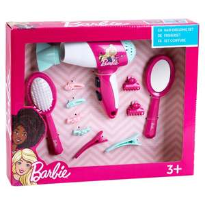 Barbie Hair Styling Set - Battery operated toy hairdryer £3.50 at tesco broughton