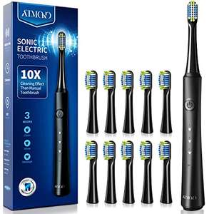 Sonic Toothbrush with 40000VPM 10 Brush Heads with 3 Modes £13.50 Prime + £4.49 non prime Sold by PIETIC DIRECT and Fulfilled by Amazon