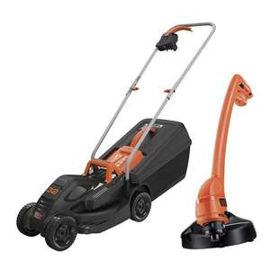 Black and Decker 32cm 1000w Rotary Mower plus GL250 250w Strimmer £74.99 click and collect using code @ Robert Dyas