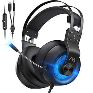 Mpow EG3 Pro Gaming Headset Blue (PC / Xbox / PS4) £13.99 Delivered Using Code + Voucher Sold by HBH LTD and Fulfilled by Amazon