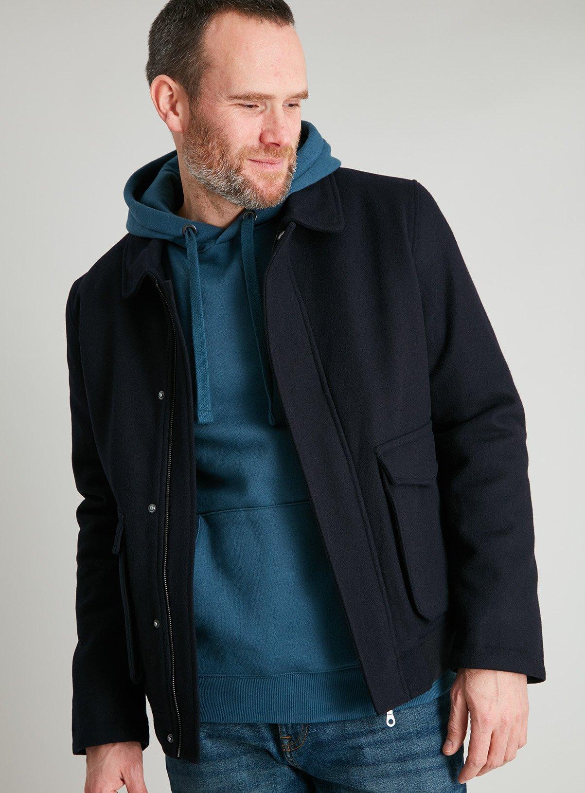 Tu Clothing Premium Navy Wool Rich Blouson Jacket for £22.50 click & collect @ Sainsbury's Tu Clothing