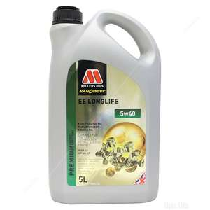 Millers Oils NANODRIVE EE Longlife 5w-40 Fully Synthetic Engine Oil £28.47 delivered @ Opie Oils