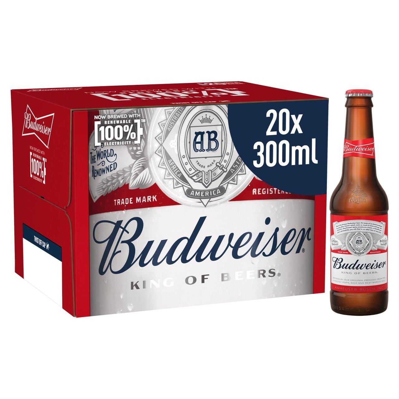 Budweiser Lager Beer Bottles 20 x 300ml - £9.99 @ Morrisons