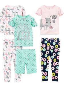 Baby girl's 6 piece pyjamas set size 6-9 months now £8.16 (+£4.49 non-prime) at Amazon. Other sizes on offer too