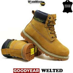 WorkWear Pro Heavy Duty Men's Leather Safety Boots for £21.95 delivered @ eBay / Dallas Shoes