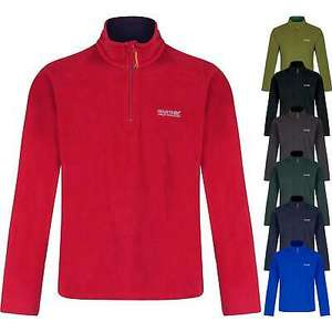 Regatta Thompson Half Zip Anti Pill Mens Polar Fleece Jacket (Size Small) (5 Colours) £7.99 Delivered @ fusion-travel / eBay