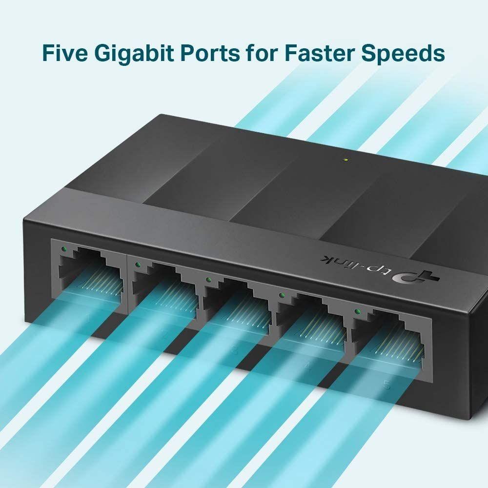 TP-Link LS1005G 5-Port Desktop /Wallmount Gigabit Ethernet Switch - £9.29 prime /+ £4.49 non prime @ Amazon