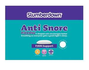Slumberdown Anti Snore Pillow £6 (free click+collect) at George (Asda George)