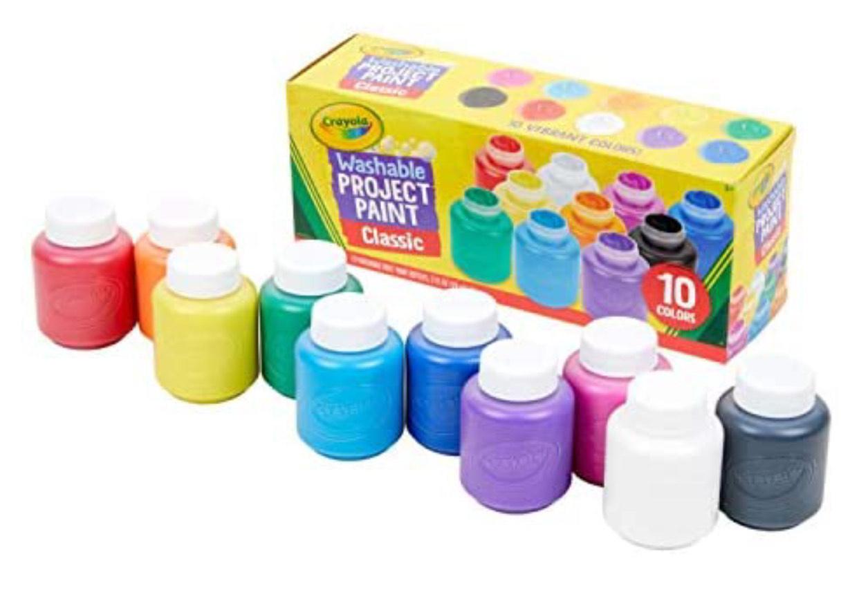 CRAYOLA 10 ct washable kid's paint £7.99 Amazon Prime / £12.48 Non Prime