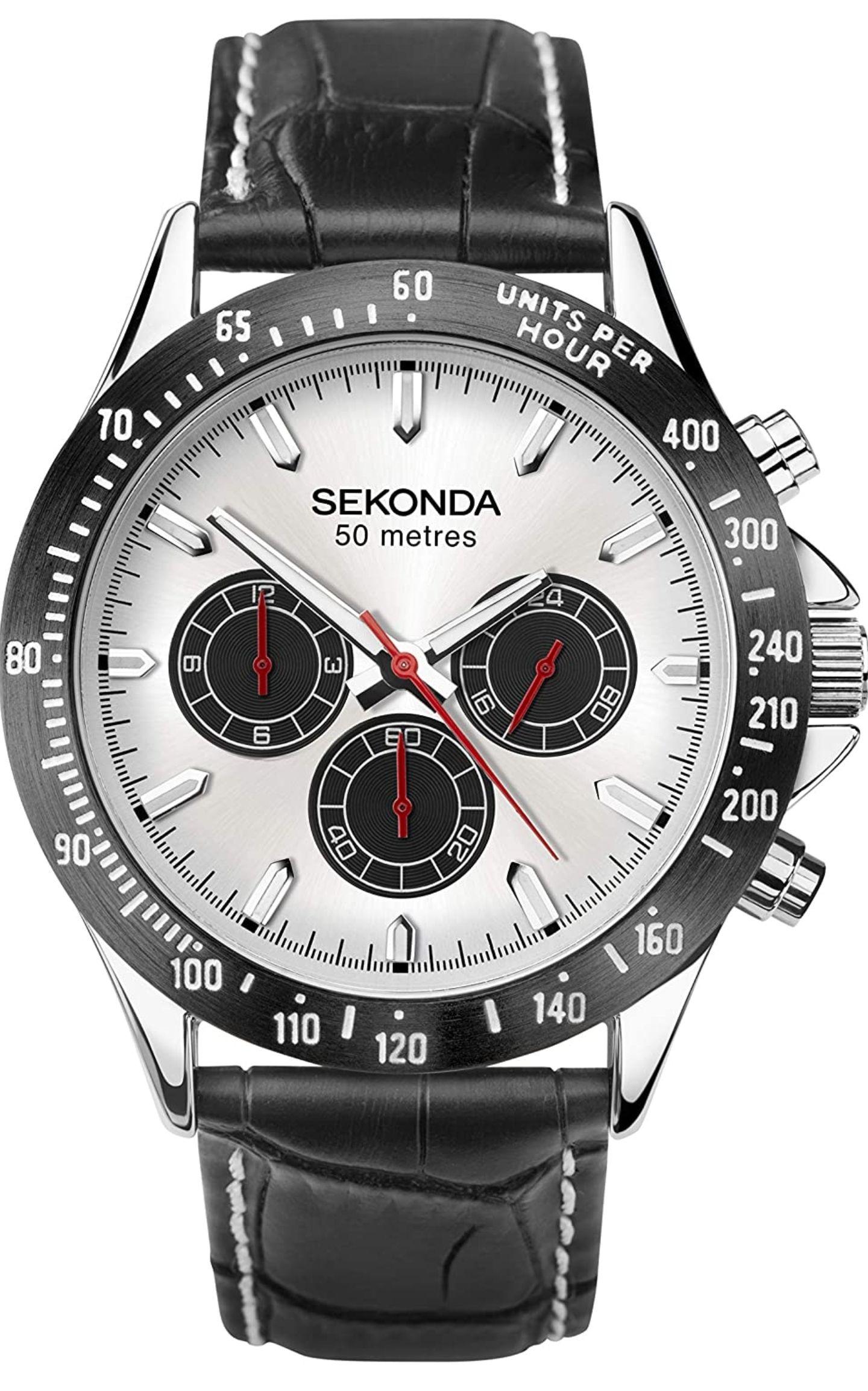 SEKONDA Sport Watch 1647 White Dial Black Accents - £34.98 @ Amazon