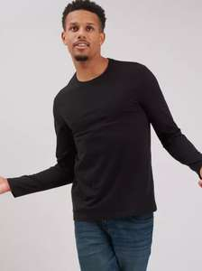 Black Long Sleeve T-Shirt 100% Cotton - XXXXL - £3 ( With free click and collect ) @ Argos Tu