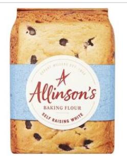 Allinson's baking flour Plain and Self raising 1kg - 29p Farmfoods (Castle Bromwich)