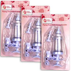Piping Tool Cake Decoration Kits With Assorted Icing Nozzles - £1 delivered @ Yankee Bundles