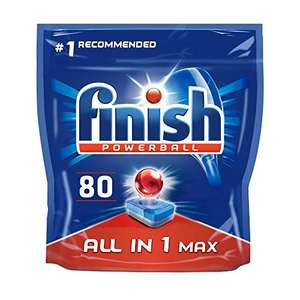 Finish Aio 80's - £9.50 + £4.49 NP (£8.55 S&S - Possibly cheaper on first S&S) for 80 tabs (+£4.49 Non-Prime) @ Amazon