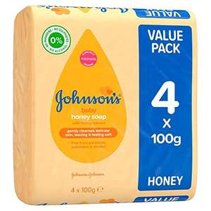 JOHNSON'S Baby Honey Soap 4 x 100g (Case of 6) £4.99 (+ £4.99 Non Prime) Sold by MD Health Store and Fulfilled by Amazon.