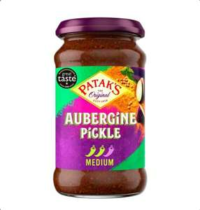 Patak's Aubergine Pickle 316gm and Lime Pickle 283gm...Half price! Tesco Clubcard price - 99p and 90p instore only (Spotted Feltham)