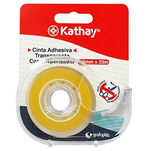 Kathay Transparent Adhesive Tape with Dispenser - 78p Prime (+£4.49 Non Prime) (UK Mainland) Sold by Amazon EU @ Amazon