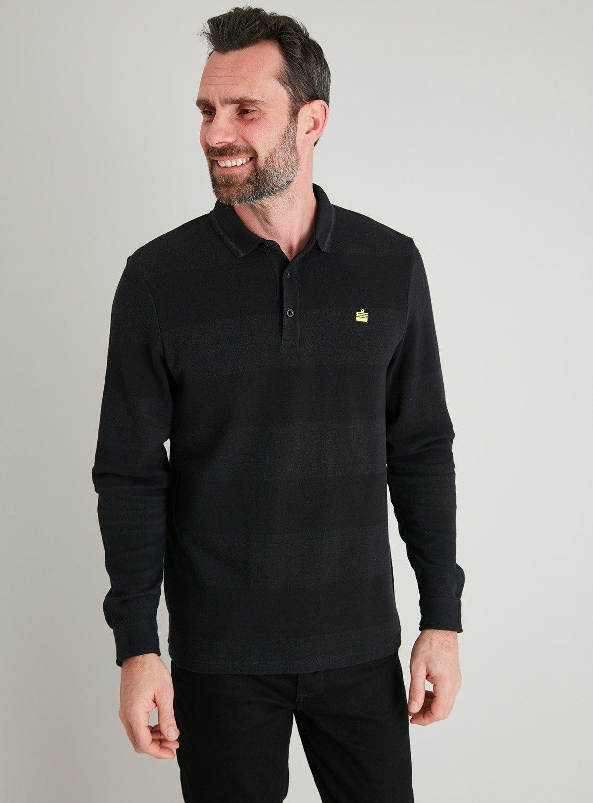 Admiral Black Long Sleeve Polo Shirt for £10 click & collect @ Argos