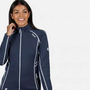 Women's Hentana II Lightweight Full Zip Stretch Midlayer Dark Denim for £62.95 with code @ Regatta