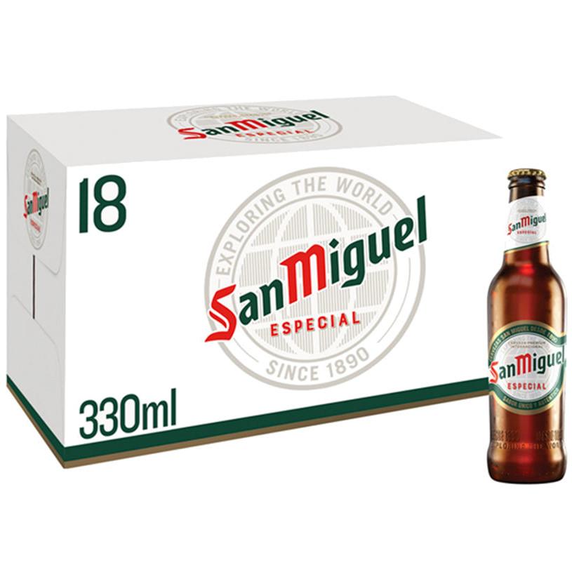 San Miguel Premium Lager Beer (330ml) - 18 bottles for £10.97 @ Asda