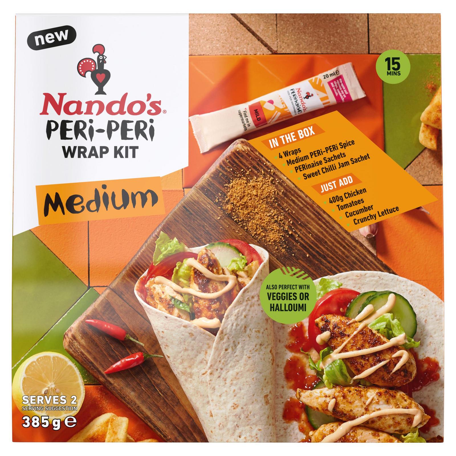Nando's Medium Peri-Peri Wrap Kit 261g - £2.50 @ Iceland