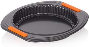Le Creuset Toughened Non-Stick Bakeware Quiche / Flan Tin, 28cm, Black £16.60 (+£4.49 non-prime) @ Amazon