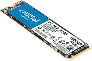 Crucial P2 CT1000P2SSD8 1 TB Internal SSD, Up to 2400 MB/s (3D NAND, NVMe, PCIe, M.2) - £85.14 @ Amazon