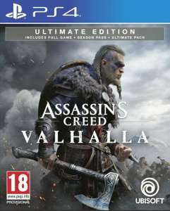 Assassins Creed Valhalla Ultimate Edition PS4 £49.99 instore @ Game (Spalding)