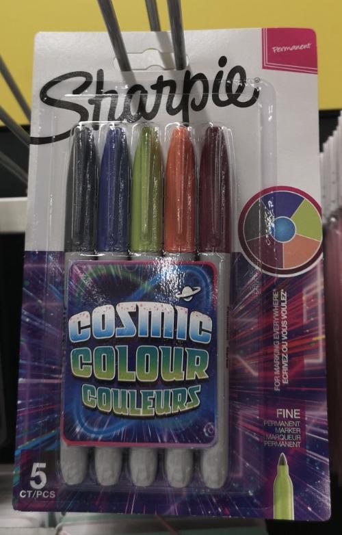 Sharpie Cosmic Colours 5 Pack - £2.40, 12 pack Sharpie Highlighters - £3.70 @ Tesco (Ashby de la Zouch)
