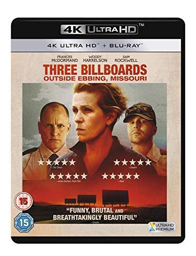 Three Billboards Outside Ebbing, Missouri [4K UHD + Blu-Ray], £9.99 (+£2.49 non prime) at Amazon