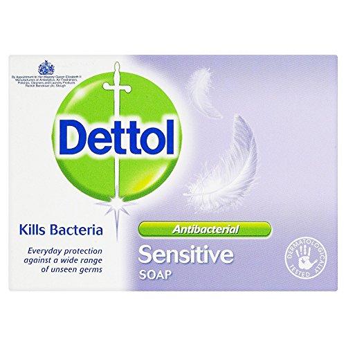Dettol Antibacterial Bar Soap Sensitive, 100g, Pack of 6 - £3.27 Prime (+£4.49 NP) @ Amazon