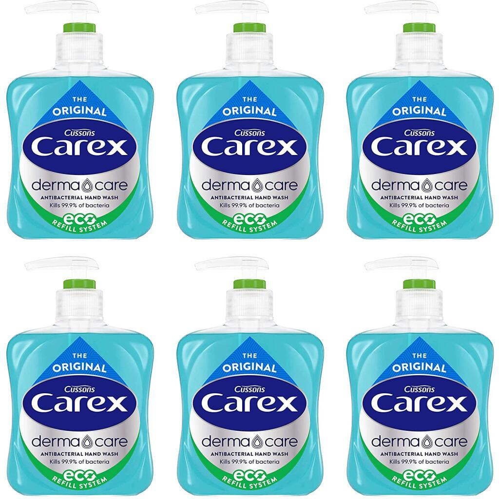 Carex Dermacare Original Antibacterial Hand Wash 6x250ml £4.40 Prime +£4.49 Non Prime at Amazon