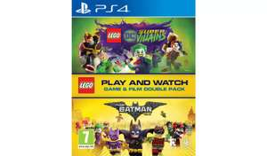 LEGO DC Villains PS4 Game & LEGO Batman Movie Double Pack £9.99 Free C&C in Limited Stores @ Argos