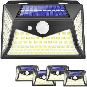 Viboos Solar Lights Outdoor, 100 Led Motion Sensor Security Light with 3 Lighting Modes £18.04 (+£4.49 nonPrime) Sold by UPBRI & FB Amazon