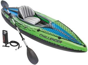Intex Challenger Kayak, 1 Person Inflatable Canoe with Aluminum Oars and Hand Pump - 2019 Model £76.36 at Amazon