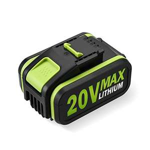 Powerextra 4.0Ah 20V Lithium ion Replacement Battery for WORX £33.99 Sold by Powerextra UK and Fulfilled by Amazon.